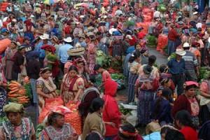 Día de mercado en Almolonga. Fotografía por J.M. González